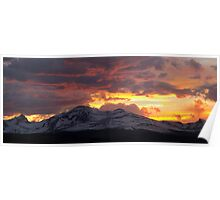 Indian Peaks Sunset Poster