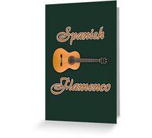 Spanish Flamenco Guitar Greeting Card
