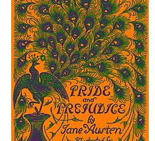 Pride and Prejudice Jane Austen Peacock cover Orange  by triinamariia