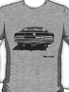 Australian muscle car R/T Valiant Charger back side black T-Shirt