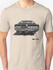 Australian muscle car R/T Valiant Charger back side black Unisex T-Shirt