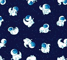 T-Rex in Space by Kate Ouwenga