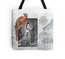 Steampunk Victorian Parrot Bird Cage Tote Bag