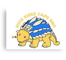 The gangster ankylosaurus regulates Canvas Print