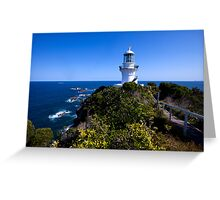 The light house at Seal Rocks Greeting Card