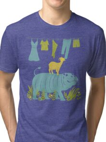 Humphrey the Hippo and the Cameroon Mountain Goat Tri-blend T-Shirt