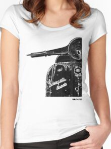 Vespa Super 1960 Piaggio front black Women's Fitted Scoop T-Shirt