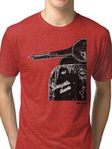 Vespa Super 1960 Piaggio front black Tri-blend T-Shirt
