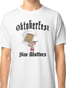 "Funny Oktoberfest ""Size Matters"" Classic T-Shirt"