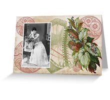 Steampunk Victorian Floral Corset Greeting Card