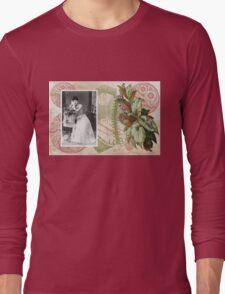 Steampunk Victorian Floral Corset Long Sleeve T-Shirt