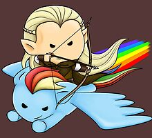 Legolas & Rainbow Dash by nipponolife