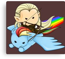 Legolas & Rainbow Dash Canvas Print