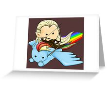 Legolas & Rainbow Dash Greeting Card