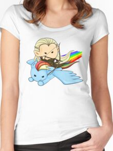 Legolas & Rainbow Dash Women's Fitted Scoop T-Shirt