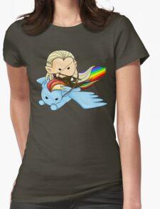 Legolas & Rainbow Dash Womens Fitted T-Shirt