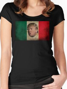 Mexican Donald Trump Flag Women's Fitted Scoop T-Shirt