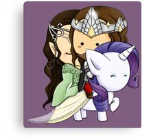 Aragorn, Arwen & Rarity Canvas Print