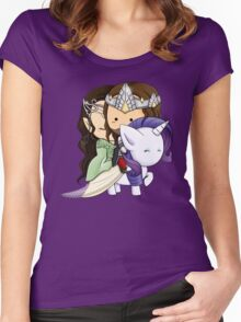 Aragorn, Arwen & Rarity Women's Fitted Scoop T-Shirt
