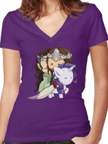 Aragorn, Arwen & Rarity Women's Fitted V-Neck T-Shirt