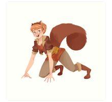 Squirrel Girl Art Print