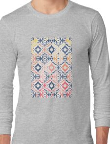 Tropical Ikat Damask Long Sleeve T-Shirt