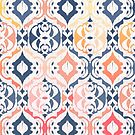 Tropical Ikat Damask by micklyn