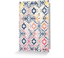 Tropical Ikat Damask Greeting Card