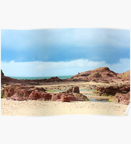 Rocky Scottish beach , Fife, Scotland Poster