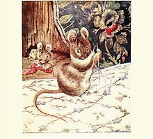 The Tailor of Gloucester Beatrix Potter 1903 0051 Mouse with Needle and Thread by wetdryvac