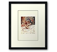 The Tailor of Gloucester Beatrix Potter 1903 0051 Mouse with Needle and Thread Framed Print
