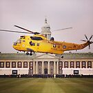 Sea King over College Hall by Katie Vickery