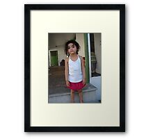 The Child Must know that she is a miracle  Framed Print