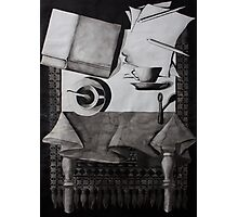 Still Life, ink on paper, 1998 Photographic Print