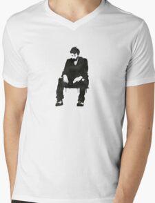 Sitting on hard times  Mens V-Neck T-Shirt
