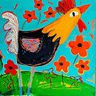 Chicken Love 1 by ART PRINTS ONLINE         by artist SARA  CATENA