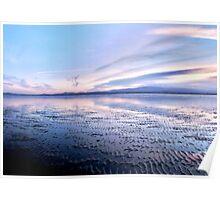 Blue sunset, Sandymount Strand, Dublin, Ireland, 2 Poster