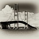Mackinac Bridge with Clouds by Theodore Black