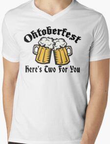 Oktoberfest Women's Here's Two For You Mens V-Neck T-Shirt
