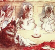 The Tailor of Gloucester Beatrix Potter 1903 0066 Mice Sewing Around a Candle Sticker