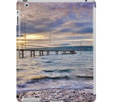 Storm clouds over jetty iPad Case/Skin