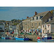 Padstow Quay in November Photographic Print