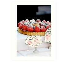 Berry tart Art Print