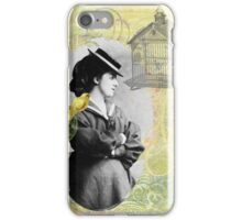 Steampunk Victorian Bird Cage Canary iPhone Case/Skin