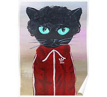 Chas Tenenbaum Black Cat Adidas  Poster