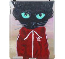 Chas Tenenbaum Black Cat Adidas  iPad Case/Skin