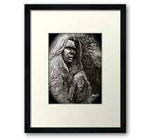 Crying statue Framed Print