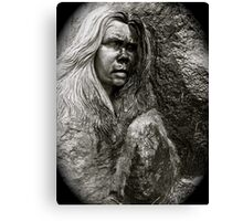 Crying statue Canvas Print