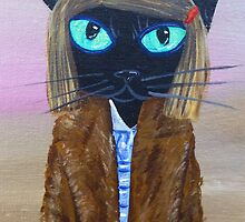 Anderson Tenenbaum black cat  by MuertoCupcake