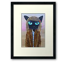 Anderson Tenenbaum black cat  Framed Print